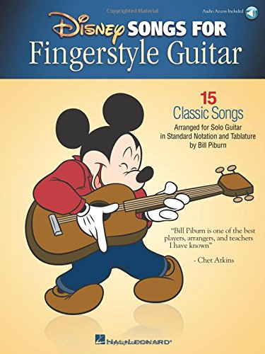 Disney Songs for Fingerstyle Guitar: 15 Classic Songs Arranged by Solo Guitar in Standard Notation and Tablature