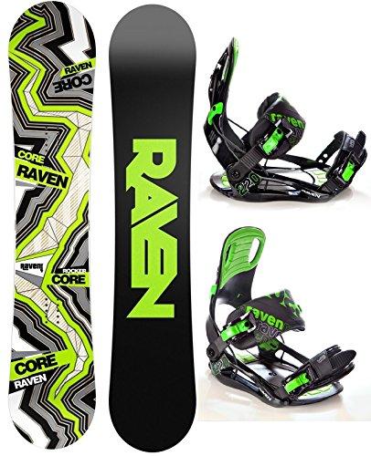 Snowboard Set: Snowboard Raven Core Carbon Rocker + Bindung Raven s220 Green XL