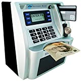 YaBao ATM Savings Bank, Personal ATM Cash Coin Money Savings Bank Machine (Sliver/Black) - Limited Edition (Pounds)