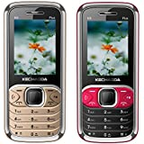 KECHAODA K9 Plus (Combo Of Two MOBILES) Basic Feature Mobile Phone With Dual SIM, 2.4 Inch Display (Champagne+BlackRed)
