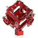 Koolertron Professionnel 360 degrés Panoramique / Sphérique Caméra Support Vidéo Mount / Rig Plate-forme en Aluminium Anodisé Support jusqu'à 6 Caméras pour GoPro Hero 3 3+ 4 (Rouge)