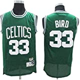 Basketbalshirt 33 Larry Bird Boston Celtics Ademend Slijtvast Basketbal Uniform Fitness Sport T-shirt Wedstrijdshirt, Groen,Green-M(175cm/65~75kg)