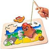 Hecho a mano de madera fijado magnético rompecabezas Winnie the Pooh Multicolor Eco Friendly Kids niños desarrollo educativo juguetes