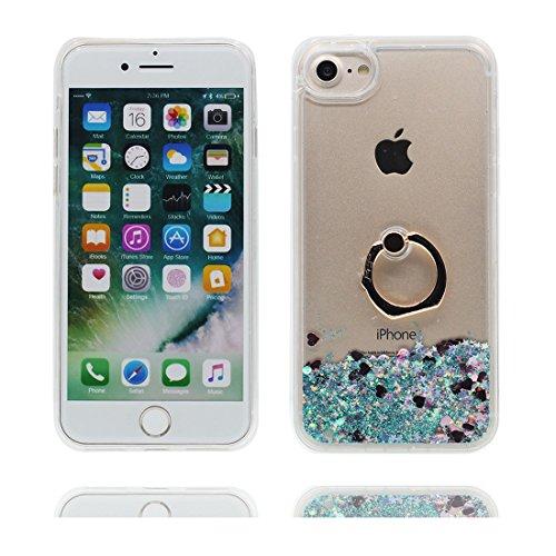 """iPhone 6 Coque, Étui Cover Housse pour iPhone 6S 4.7"""", Bling Glitter Fluide Liquide Sparkles Sables Hard Shell ring Support iPhone 6 Case 4.7"""", Résistant à la poussière Scratch -Elegant # 6"""