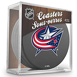 Sher-Wood Columbus Blue Jackets NHL Eishockey Puck Untersetzer (4er Set)