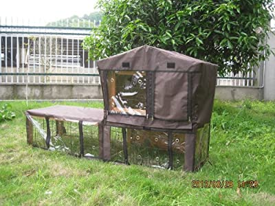 Bunny Business Rabbit Hutch with Integrated Run and Enclosure Rabbit Hutches Rabbit Runs BF2