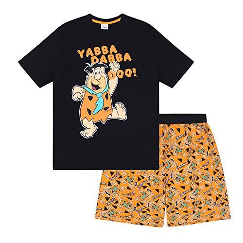 Familie Feuerstein - Herren Schlafanzug - kurz - Retro-Design mit Fred Feuerstein - offizielles Merchandise - M