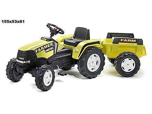 LIBERAONLINE Traktor mit Pedalen 155x 53x 61cm Spiel Spielzeug Geschenk # AG17 - Baby-pedal-traktor