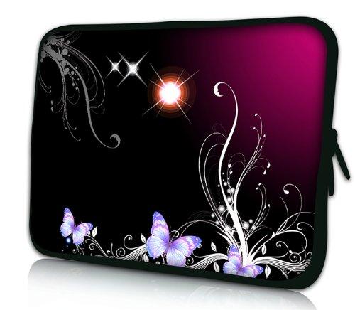 Luxburg® Design Laptoptasche Notebooktasche Sleeve für 17,3 Zoll, Motiv: Strümpfe Sterne und Schmetterlinge