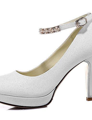WSS 2016 Chaussures Femme-Mariage / Décontracté-Noir / Blanc-Talon Aiguille-Talons-Chaussures à Talons-Synthétique white-us6 / eu36 / uk4 / cn36