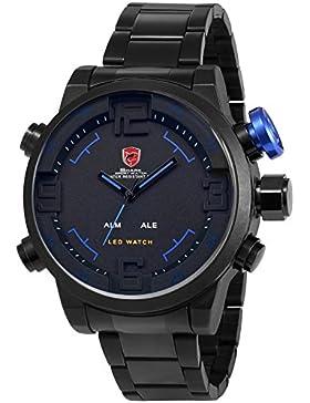 Shark Dual LED Digital Armbanduhr 5cm Extragroßes Uhrgehäuse SH106
