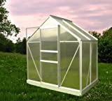 Chalet-Jardin 901667 46 Serre de Jardin avec Base Aluminium/Polycarbonate Transparent...