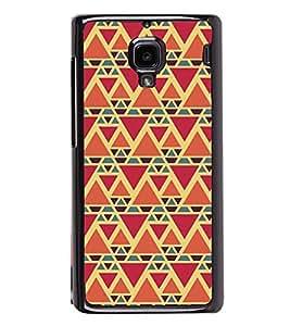 Fuson Premium 2D Back Case Cover Triangle Pattern With yellow Background Degined For Xiaomi Redmi 1S::Xiaomi Redmi (1st Gen)