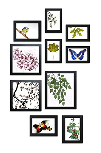 Close Up® Design Rahmen Collage Set 10-teilig, 4 versch. Größen schwarz, Formate von 10x15cm bis 20x25cm