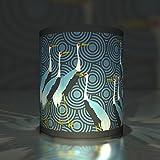 Kartenkaufrausch 5 japanisch anmutende Papier Windlichter| Teelichthalter| Transparent Leuchten mit Kranichen, blau