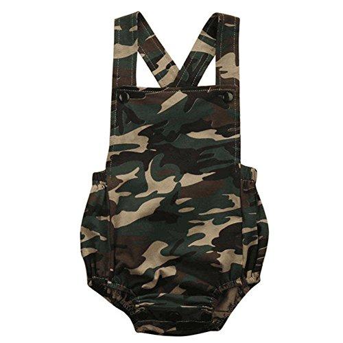 rls Camouflage Kleidung Bodysuit Spielanzug Jumpsuit 0-18 Monate (Baby Boy Cowboy-outfit)