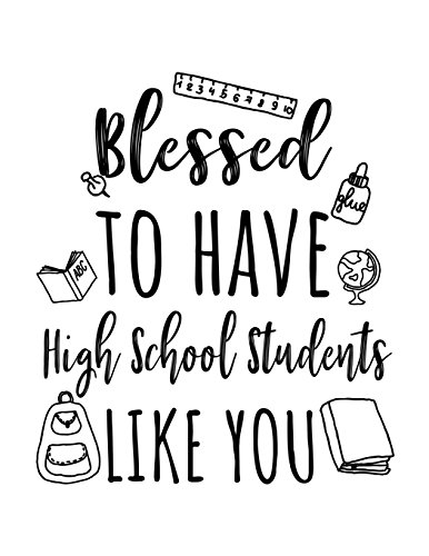 Blessed To Have High School Students Like You: High School Teacher Appreciation Journal Notebook por Dartan Creations