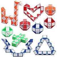 CHARLLEAN 24 Knoten Puzzle Magische Schlange Spielzeug, Mini Schlangen Würfel, Kinder Spiel Wandelbare Geschenk Puzzle Zauberwürfel, 3D IQ Spielzeug für Kinder und Erwachsene, 10 Pack