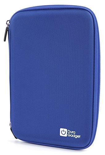 DURAGADGET blaue 8 Zoll Hartschalentasche mit Netzfach und Klettverschluss zur sicheren Fixierung sowie wasserabweisender Nylon Oberfläche für Tablets mit Bildschirmdurchmesser 8 Zoll (20,32 cm) wie Aldi Medion Lifetab S7851 | Apple iPad Mini 4 | Acer Predator 8 | Blaupunkt Polaris 803 | Odys Wintab 9 plus 3G | TrekStor Ventos 8.0 V2 und andere Tablets mit 8 Zoll (20,32 cm) Bildschirmgröße