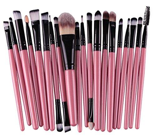 Bigood 20Pcs Kit de Pinceaux de Maquillage pour Yeux Brosse Maquillage Professionnel