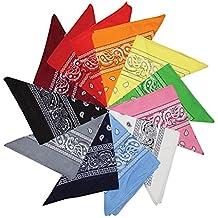 Kurtzy Bandane in Cotone Paisley Fantasia Sciarpa - Vari disegni Bandane  per Sciarpe testa e collo 6addf8115092