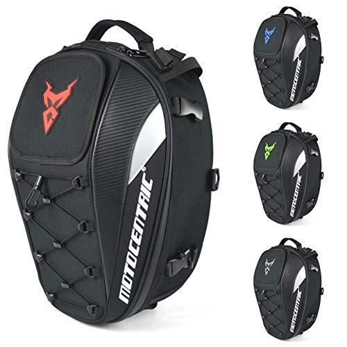 Funihut - Zaino da moto impermeabile con spazio per il casco, borsa da moto/sedile posteriore, zaino da viaggio, capacità elevata rosso