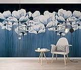 HONGYUANZHANG Weiße Kreative Blume Tapete Des Foto-3D Künstlerische Landschafts-Fernsehhintergrund-Tapete,92Inch (H) X 124Inch (W)