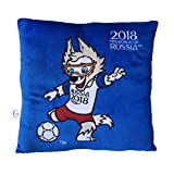 FIFA Weltmeisterschaft 2018 - Plüsch Kissen blau mit Maskottchen Zabivaka