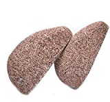 2 Pcs Pumice Stone Feet Care - Horsky Callus Remover Natural Skin Care Product for Dry Dead Hard Foot Hands Face Body Cracked Heel, Coffee, 3.7x3.1x1.9 inches / 8x4x4 cm