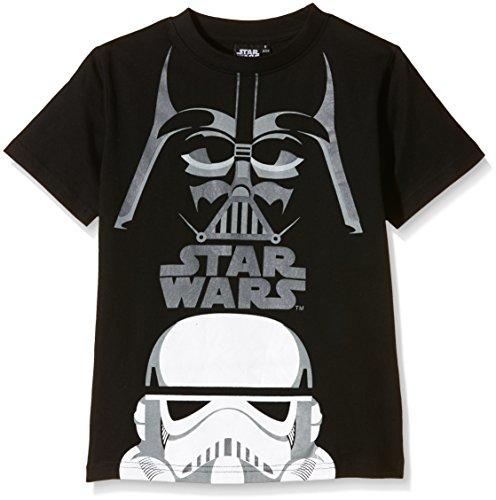 STAR WARS, Camiseta De Manga Corta Para Niños, Negro, T10 Años