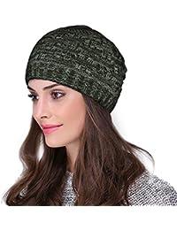 Hupshy Beanie Caps, Woolen Caps, Knitted Slouchy Caps, Skull Cap for Men & Women