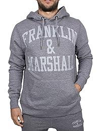 Franklin & Marshall Herren Arch Logo Hoodie, Grau