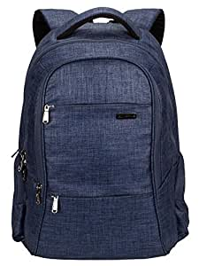 Cosmus Darwin Dx Laptop Backpack - 29 litres Blue Durable Linen Polyester Fabric Office Laptop Bag
