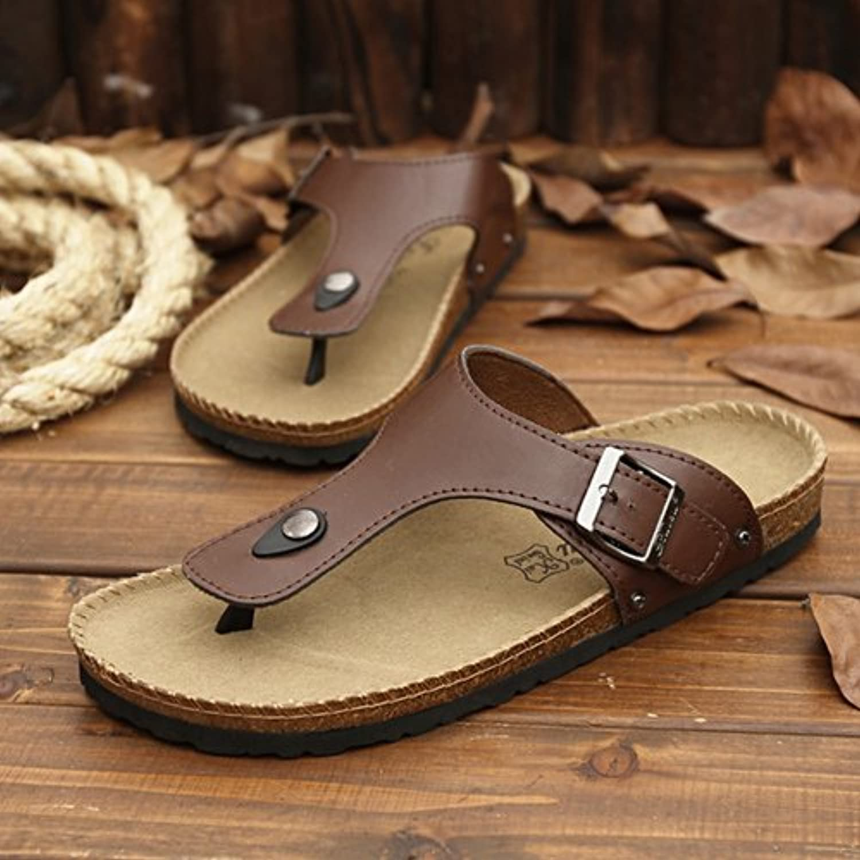 xing lin 36108 - Sandalias para Hombre, Diseño de Espiga, Color Marrón