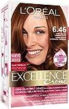 L'Oréal Paris Excellence Crème Triple Protección Coloración, Tono: 6,46 - 200 g