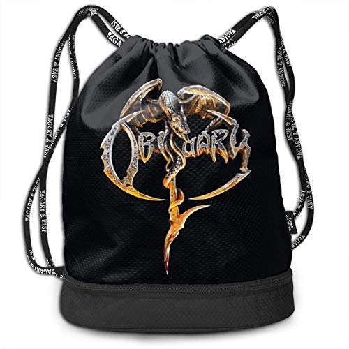Rucksäcke,Sporttaschen,Turnbeutel,Daypacks, Fashion Outdoor Shopping Satchel Rucksack Backpack Bundle Pocket Drawstring Bag Daypack, Obituary Logo -