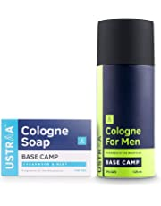 Ustraa Cologne Spray Base Camp, 125ml and Base Camp Cologne Soap, 125gm (Pack of 2)