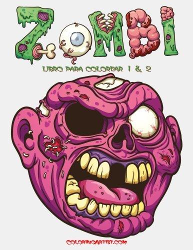 Zombi libro para colorear 1 & 2 (Colorear Fantasmas Halloween)