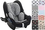 Reductor Antialérgico universal para maxicosi, capazo, silla de coche, silla de paseo Janabebe® (White Star)
