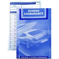 n. 3 SCHEDE CARBURANTI PER AUTOTRAZIONE 12 FOGLI CON COPERTINA