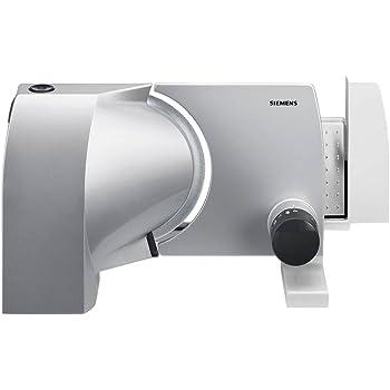 Siemens MS7254M, affettatrice 2in 1 concoltello waveCut in acciaio inox, larghezza di taglio fino a 15mm, 120 W, metallizzata e antracite
