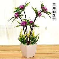 Mesa de flores de plástico decoración de flores falsas flores de pino falso hogar mini artesanías