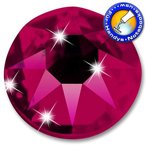100 Stück Swarovski® Kristalle 2088 KEIN Hotfix, Ruby, SS16 (Ø ca. 4 mm), Strasssteine zum Aufkleben