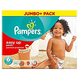 Pampers Easy Ups Size 6 (Extra Large) Mega Pack - 64 Nappies (B00CPLNLKS) | Amazon price tracker / tracking, Amazon price history charts, Amazon price watches, Amazon price drop alerts