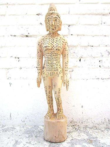 Chine acupuncture enseignement 1920 médecine petite sculpture en bois du corps luxury park féminin -