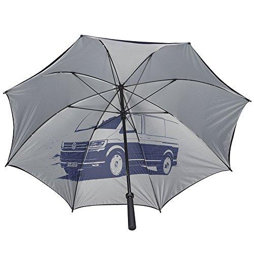 Volkswagen 7E0087600 Regenschirm T6 Motiv Stockschirm Schirm, dunkelblau/grau