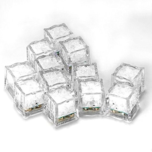 D Eiswürfel,LED Ice Cube Dekorative für Party,Hochzeit,Club und Bar ()