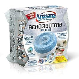Ariasana Aero 360° Ricarica TAB Inodore per Dispositivo Aero 360° Kit, Assorbi Umidità in Tab Neutra, Neutralizza i…