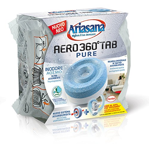 Ariasana 1680991 Ricarica Tab assobiumidità per Aero 360, inodore, 450 g