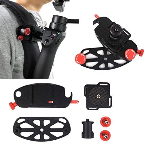 TPulling DJI Schnalle Brusthalter  Dajiang OSMO + OSMO Mobile Rucksack Gurt Clip Taille Schnalle Brusthalter Rucksackgurt Gürtelhalterung Adapter (schwarz) -